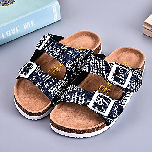 COQUI Sneakers,Children's summer slippers word drag soft wood drag boys and girls slippers-black_30