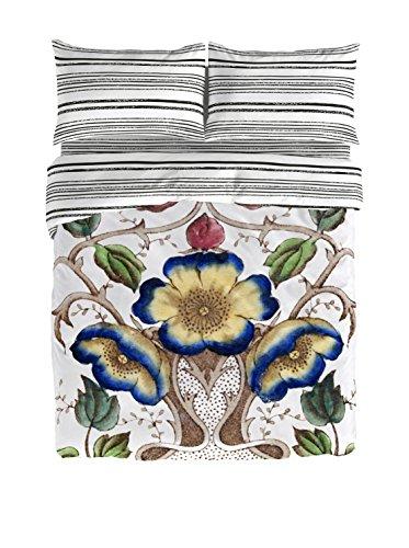 Victorio & Lucchino Petunia Juego de Funda nórdica para Cama de 135 cm, Blanco/Multicolor