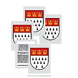 20 x Köln Tattoos - Köln Stadtwappen Wappen Schild Aufkleber Sticker Kolonia Fasching & Karneval (20)
