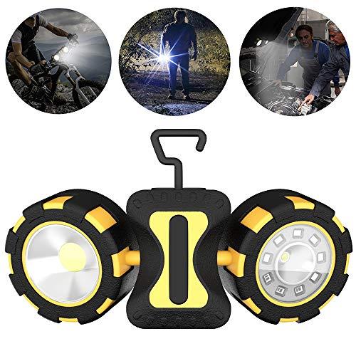 LXNY Portable LED Spotlight Double lumière Source Travail Lumière 7W Outdoor Adventure Camping Lumière Utilisez 6 Piles AAA * (Non Inclus)
