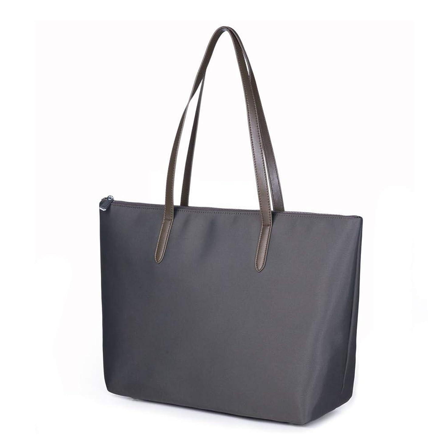 Lecxci Women's Satchel Large Capacity Waterproof Tote Bag Oxford Nylon Shoulder Handbags for Office Lady