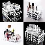 lovm 6cajón organizador para maquillaje acrílico–Joyería, pintalabios almacenamiento, brochas de maquillaje y Cosméticos