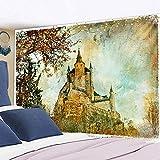 DONXIJ tapizTapiz mágico del Castillo, Bruja, Hogwarts, Foto, Halloween, Luna, decoración de la Cinta