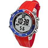 Pyle Waterproof Underwater Snorkeling & Diving Multi-Function Water Sport Wrist Watch with Dive Mode, Chronograph, Stopwatch, Water Temperature, Dive Depth & Duration, Pink