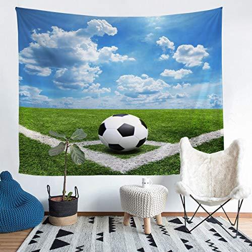 Tapiz de fútbol 3D para colgar en la pared, para niños, niñas, adolescentes, decoración de balón de fútbol, manta de pared, juegos competitivos, manta de cama, 152 x 201