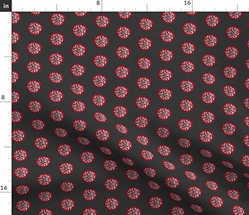 Spoonflower Fabric - Covid CDC Small Health Coronavirus Pandemic Quarantine Cell Virus Printed on Minky Fabric by The Yard - Sewing Baby Blankets Quilt Backing Plush Toys