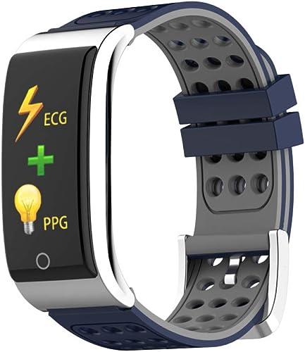 SJUTALR Montre de Sport Bracelet Intelligent ECG PPG Montre Pression artérielle Femmes Fitness Tracker Montre Activité Tracker Moniteur de Fréquence Cardiaque Sport étanche