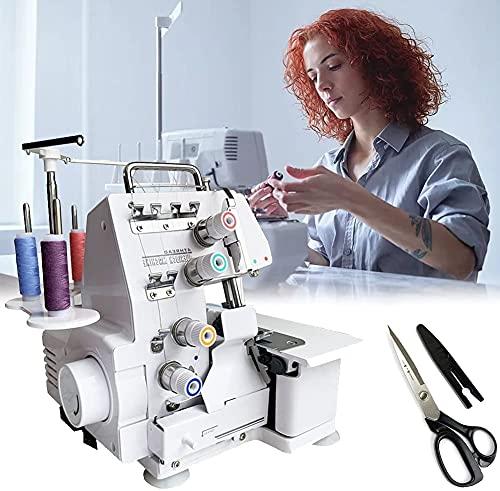 NKTJFUR Máquina de coser para niños principiantes, mini máquina de coser para ropa portátil con ajuste de tensión de hilo superior, ajuste de presión de puntada, guía de roscado
