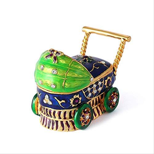 CHQSMZ Schmuckschatulle Brand Exquisite Bunte Kinderwagen-Stil für Schmuckschatulle Blau