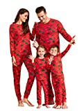 IFFEI Family Matching Christmas Pajamas Set All Over Dinosaur Print Top and Pants PJS Sleepwear for Kids Adult Men: L