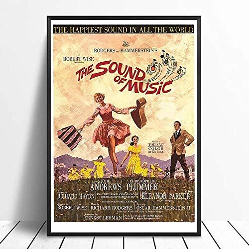 woplmh Sound of Music (1966) Vintage Classic Movie Poster Decoración para el hogar Decoración de la Pared Arte de la Pared Pintura en Lienzo Cnavas Print / 50x70cm-Sin Marco
