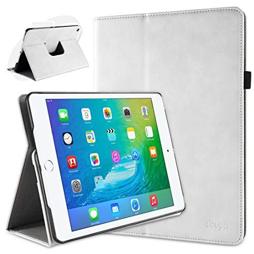 doupi Deluxe Custodia per iPad Mini 4   iPad Mini 5, 360 Gradi Rotable Protezione con Smart Funzione Sleep Wake Up Etui Stare in Piedi Protettiva, Bianco