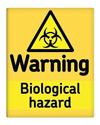 BorisMotley waarschuwing biologisch gevaar metalen teken 10x8