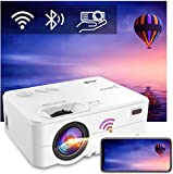 Proyector Portatil WiFi Bluetooth 6500 Lúmenes, Artlii Enjoy2 Mini Proyector Soporta 1080p Full HD, 300' Proyector Cine...
