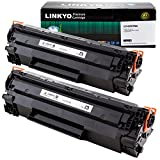 LINKYO Compatible Toner Cartridge Replacement for HP 78A CE278A (Black, 2-Pack)