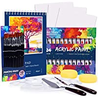 Color Acrylic 46-Piece Professional Painting Supplies Set