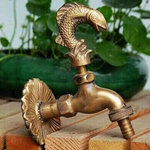 BEISUOSIBYW Co.,Ltd Grifo de jardín Grifo Decorativo de Usuario Grifo de jardín con Forma de Animal de Campo con Grifo de Bronce Antiguo para Lavado de jardín