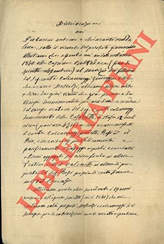 Dichiarazione in merito alla Cascina Belvedere e all'utilizzo del passaggio nel fondo detto Valonotto.