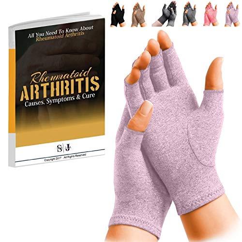 SyeJam Rheumatoide Arthritis Handschuhe Fingerlos- Wärme Kompression für Handschuhelinderung - Unterstützung & Verbesserung der Durch durch in Handgelenk & Hand, Hilft Mit Karpalblutungtunnel etc.