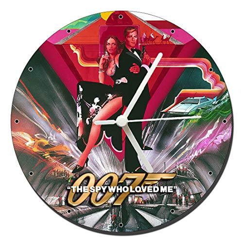 MasTazas James Bond 007 La Espia Que Me Amo The Spy Who Loved Me Roger Moore Reloj de Pared Wall Clock 20cm