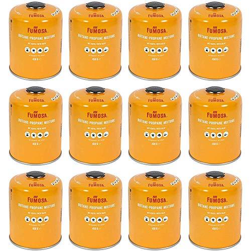 FUMOSA Gaskartuschen Set für Weber Q100/1000-Serien, Performer & Go Anywhere, Ventilkartusche je 450g Anzahl 12 Kartuschen