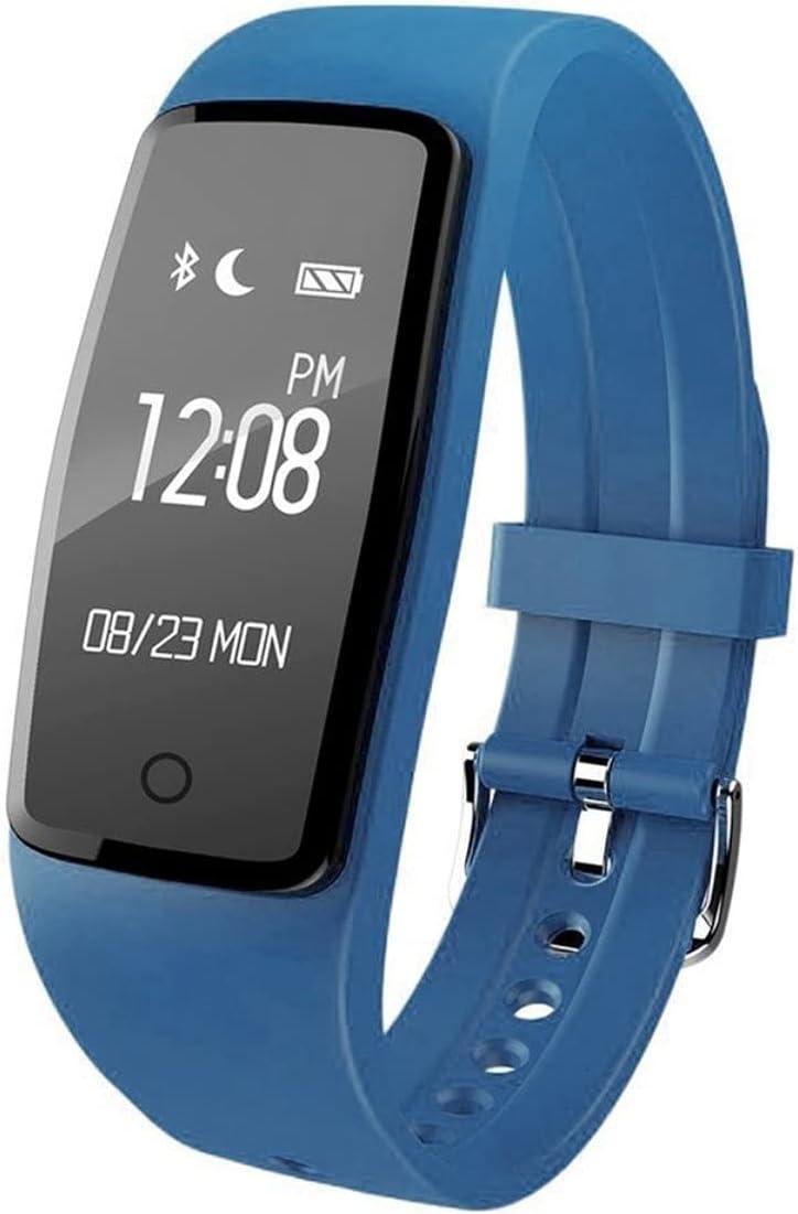 KoelrMsd Reloj Inteligente S1 con frecuencia cardíaca, Resistente al Agua, múltiples Modos de Fitness, recordatorio de Llamada, Pulsera de vibración, Activado por Gestos