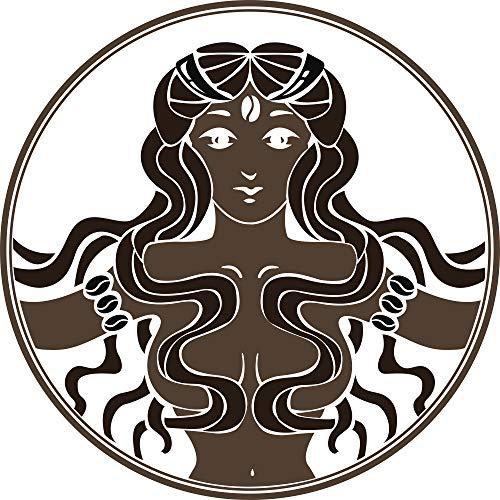 Beautiful Ancient Warrior Princess Greek Aztec Roman Cartoon Vinyl Sticker (2' Wide)