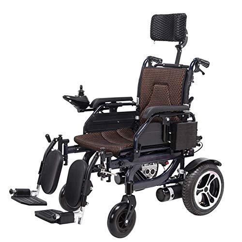 Shhjpy elektrische rolstoel, elektrische reisbuggy, werkt op batterijen, breedte van de zitting 45 cm, inklapbaar, licht, scooter voor Anziani en auto's