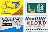 Cuchillas de afeitar Derby, Shark, Supermax, Lord