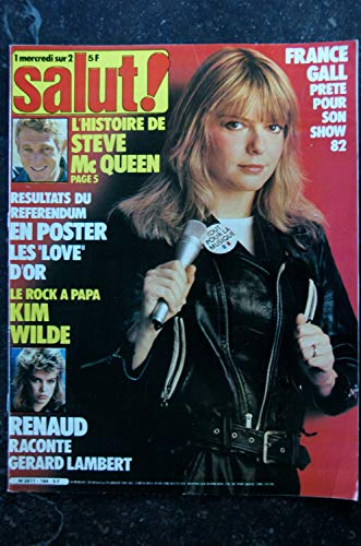 Salut ! 164 6 au 19 JANVIER 1982 France Gall Cover + 3 p. - Renaud - Kim Wilde - Poster AC/DC