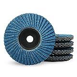 JIUNENG 3inch Flap Disc Grinding Wheel 80 Grit High Density Aluminum Oxide Sanding Disc For Angle Grinder Abrasive Grinding Disc (3''x 3/8'' x 3/8''(10pc))