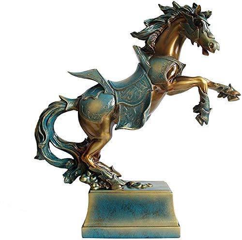 YYhkeby AK-Hauptdekoration Ornamente Skulptur Retro Pferde Ornaments Crafts Wohnzimmer Wein-Schrank Dekorationen Moderne kreative Einrichtungswarming Geschenke Geschenk Jialele