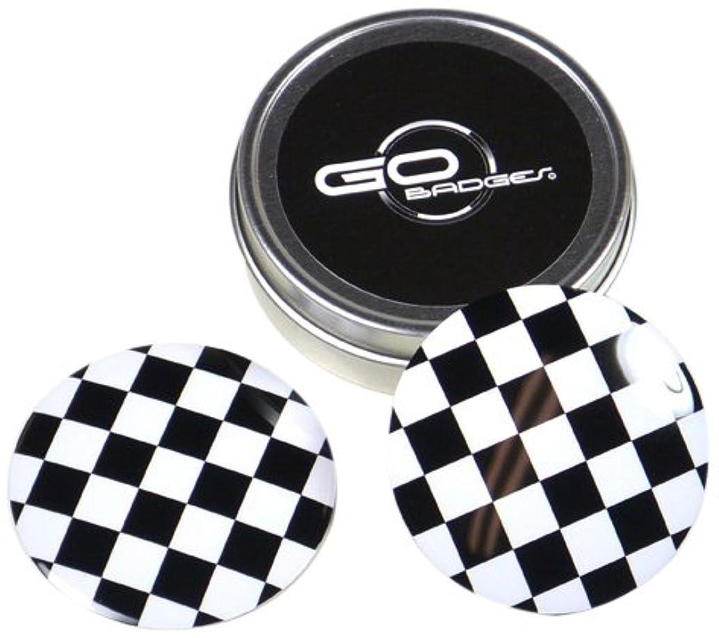 GoBadges WA01 Checker Wheel Cap for Mini Cooper