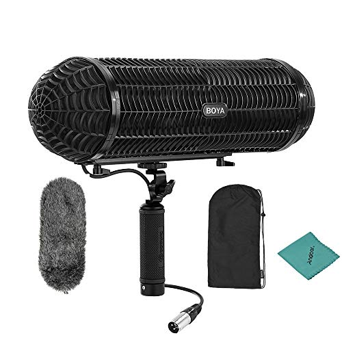 BOYA Microphone Blimp Windshield Suspension System with XLR Cable for 20-22mm Diameter Shotgun Microphones Compatible with Canon Compatible with Nikon Camcorder Recorder