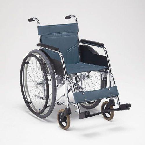 松永製作所 スチール製 自走式車いす 座幅42cm 緑 車輪:通常 立体フレーム DM-101-NORMAL