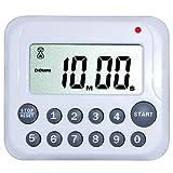 Küchentimer Digital Timer – ZWOOS LCD Display Kurzzeitmesser kurzzeitwecker mit Alarm und Magnethalterung für die Küche zum Kochen, Backen, Spiele, Sport und Büro