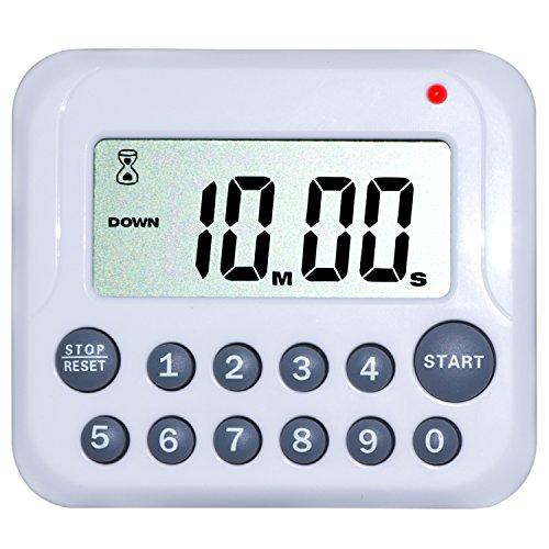 Minuterie de Cuisine – ZWOOS Mini électronique Numérique de Sport Avec écran LCD d'affichage, Alarme Sonore, Support Aimanté Et Support Rétractable Crochet