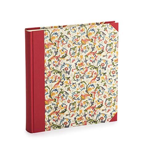 Fotoalbum zum selbstgestalten, handmade in Deutschland, Leeres Buch zum einkleben von Fotos, weiße Seiten 23 x 24,5 cm, 30 Blatt (60 Seiten), Bilderalbum für Photos von Babys, Kinder oder Familie