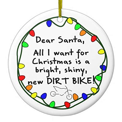 Cukudy Beste Kerstman Dirt Bike Kerstmis Ornamenten Nieuwigheid voor 2018 Kerstboom Decoraties Idee