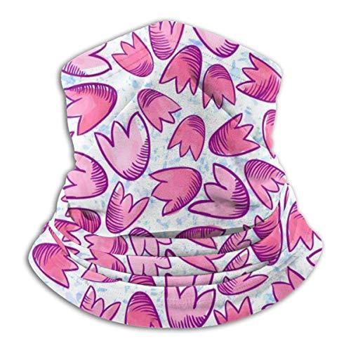 Dydan Tne Red Flower Plant Print Headwear Cuello Polaina Calentador Invierno Ski Tube Bufanda Fleece Face Cover A Prueba de Viento para Hombres Mujeres Personalizado