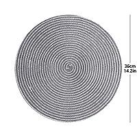 Lygrd 表プレースマットは、耐熱性4の清浄な白い綿エッジ設定が容易 (Color : Light gray, Size : L)