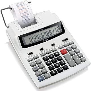 Calculadora de mesa com 12 dígitos, calendário, relógio e impressão de data MR-6125, Elgin, 42MR61250000, Gelo