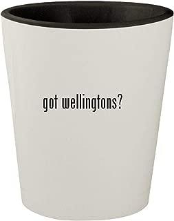 got wellingtons? - White Outer & Black Inner Ceramic 1.5oz Shot Glass