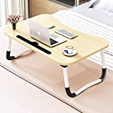 Foldable Bed Tray Lap Desk, Portable Lap Desk with Phone Slots Notebook Table Dorm Desk,...