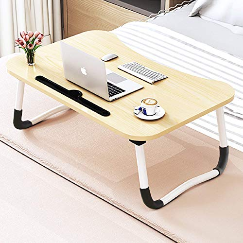 Foldable Bed Tray Lap Desk, Portable Lap Desk with Phone Slots Notebook Table Dorm Desk, Small Desk Folding Small Dormitory Table, Perfect for Watching Movie on Bed Or As Personal Dinning Table (Office Product)