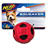 Nerf Dog Bash Rubber Wrapped Tennis Ball Dog Toy, Lightweight, Durable and Water Resistant, 2 Inches, for Small/Medium Breeds, Single Unit, Red