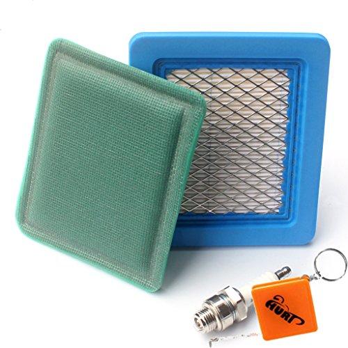 puissant Kit HURI: Filtre à air moteur Briggs Stratton 491588 + Pré-filtre + Bougie…
