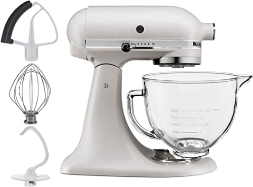 wholesale KitchenAid 5-Quart popular Tilt Head Stand Mixer With Flex Edge Beater Glass Bowl new arrival Matte Milkshake sale