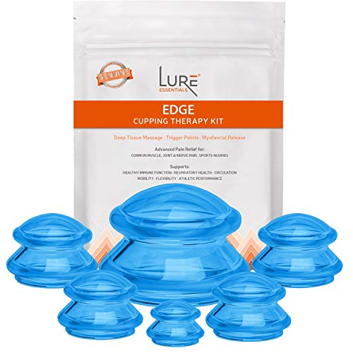 Edge Cupping Therapy Sets - Silicone Vacuum Suction Cupping Cups