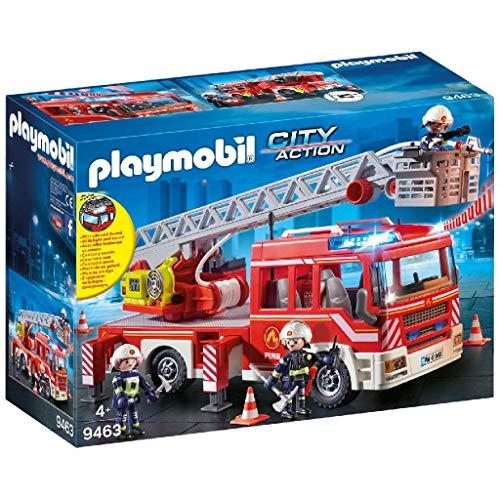 PLAYMOBIL City Action Camión de Bomberos con Escalera,